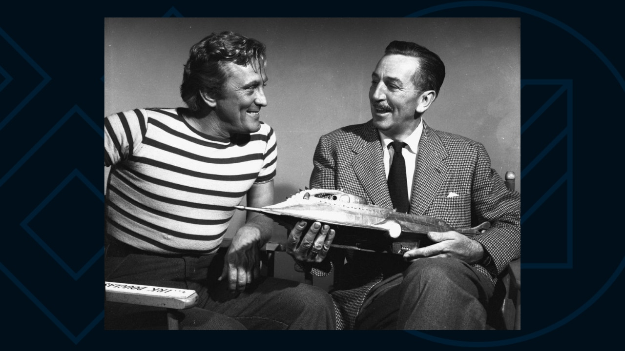 Kirk Douglas and Walt Disney