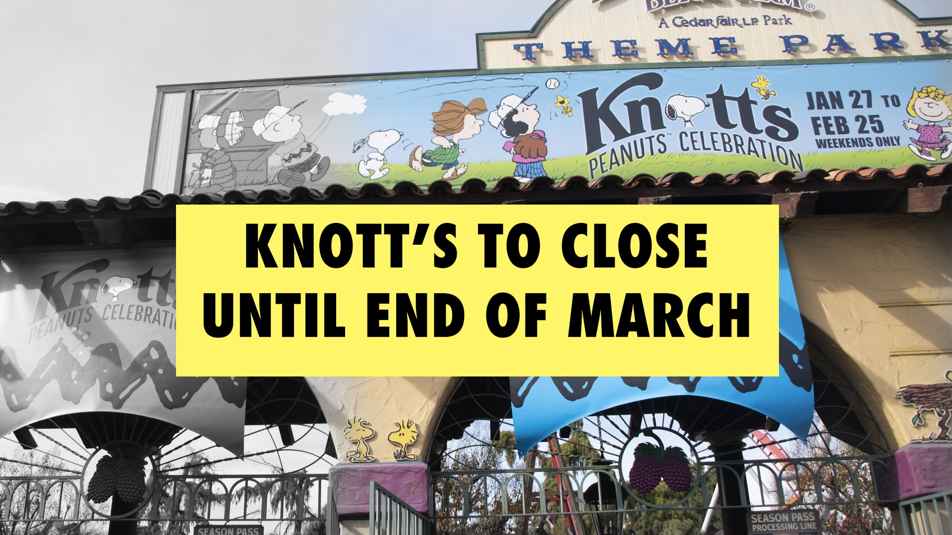 Knott's Berry Farm to Close and Hotel to Stay Open Through End of March for COVID-19 Concerns