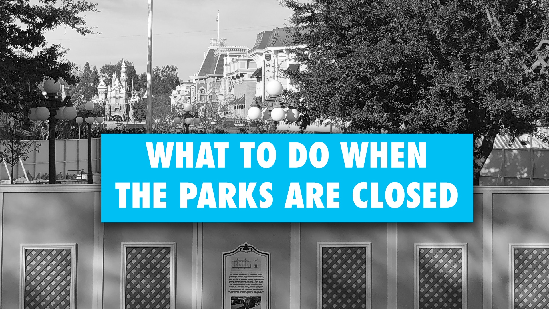 What to Do When the Parks Are Closed – Easing the Disney Trip Withdrawals UPDATED