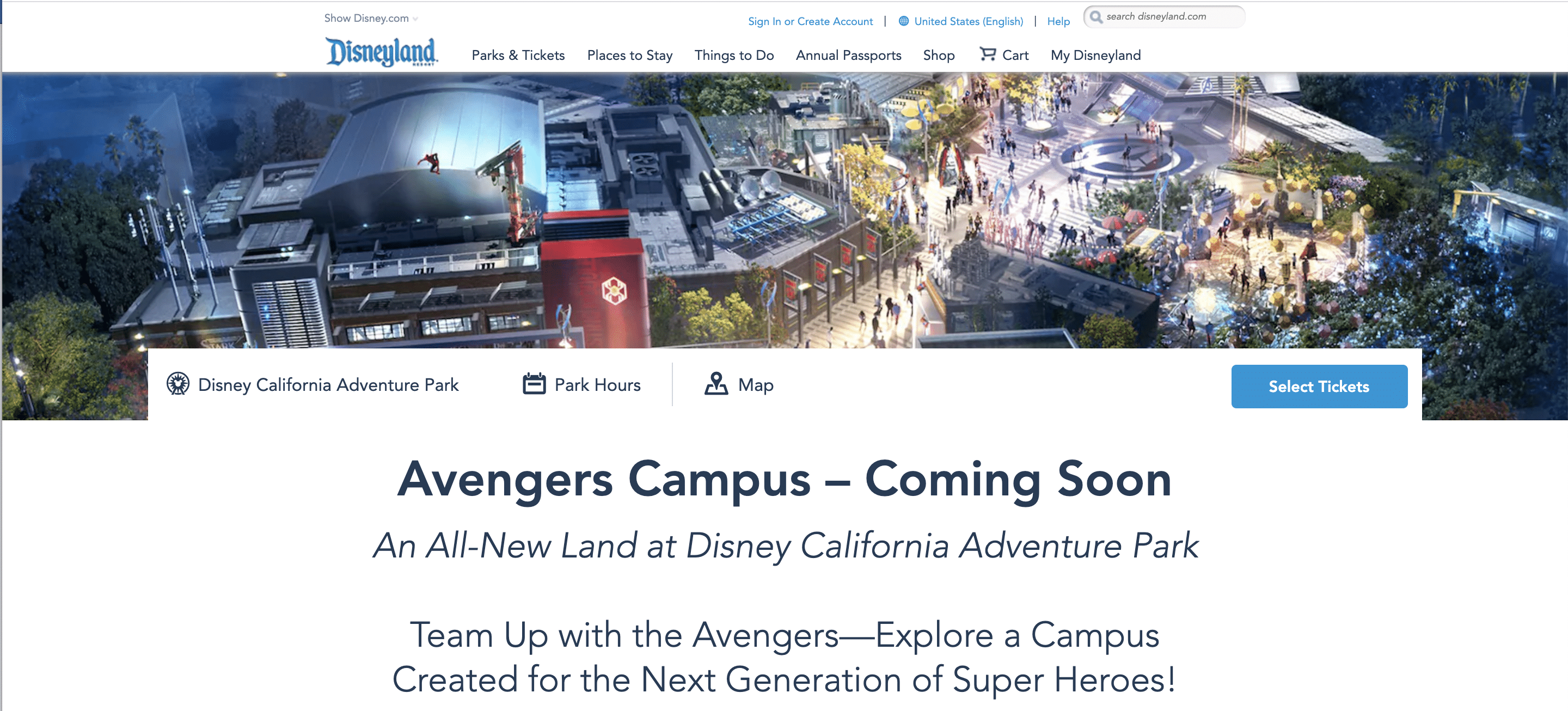 Avengers Campus - Coming Soon