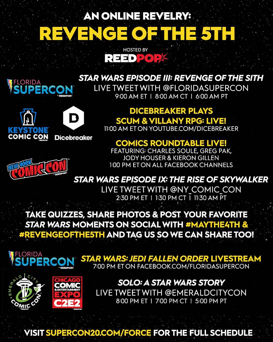 Online Revelry: May the 4th Be With You and Revenge of the 5th