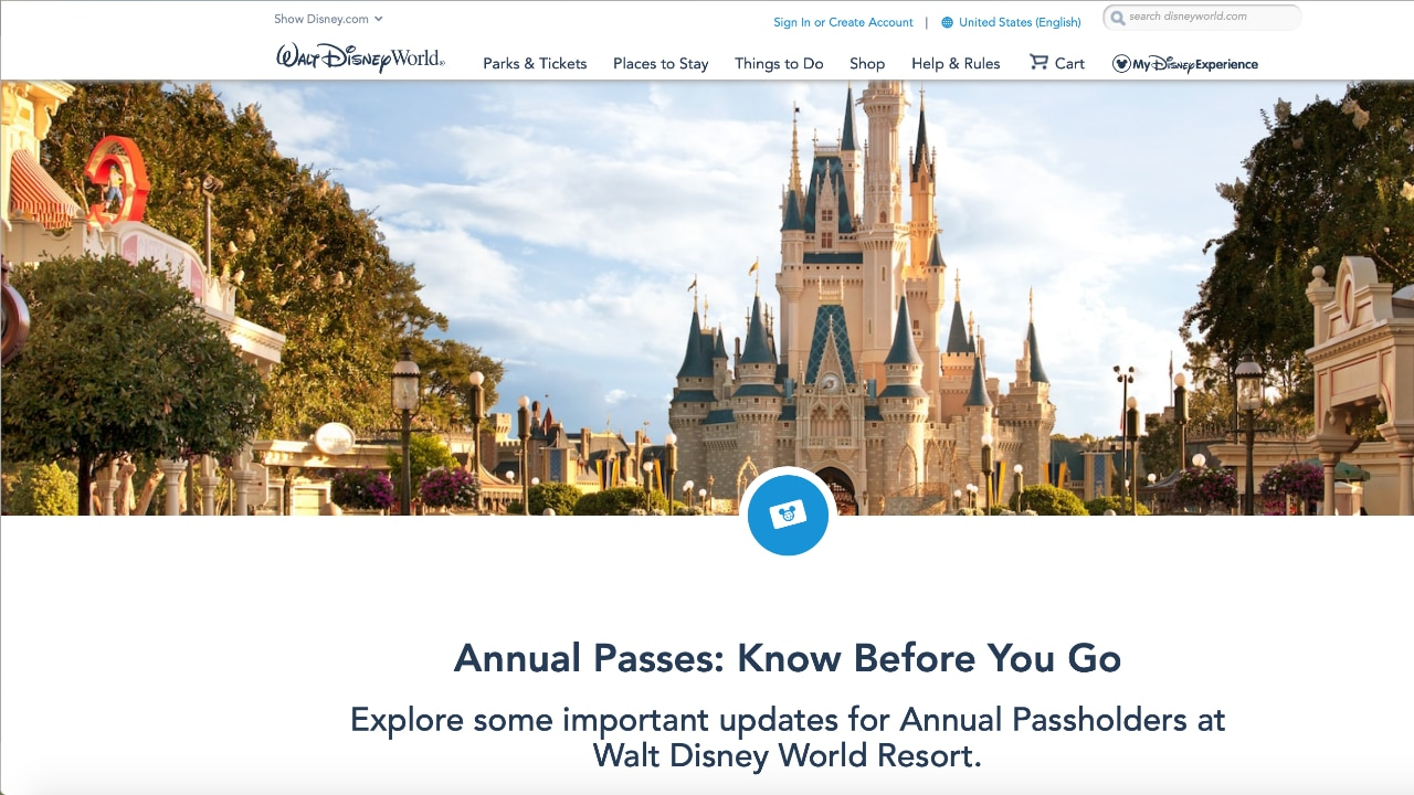 Walt Disney World Launches Know Before You Go Webpage for Annual Passholders