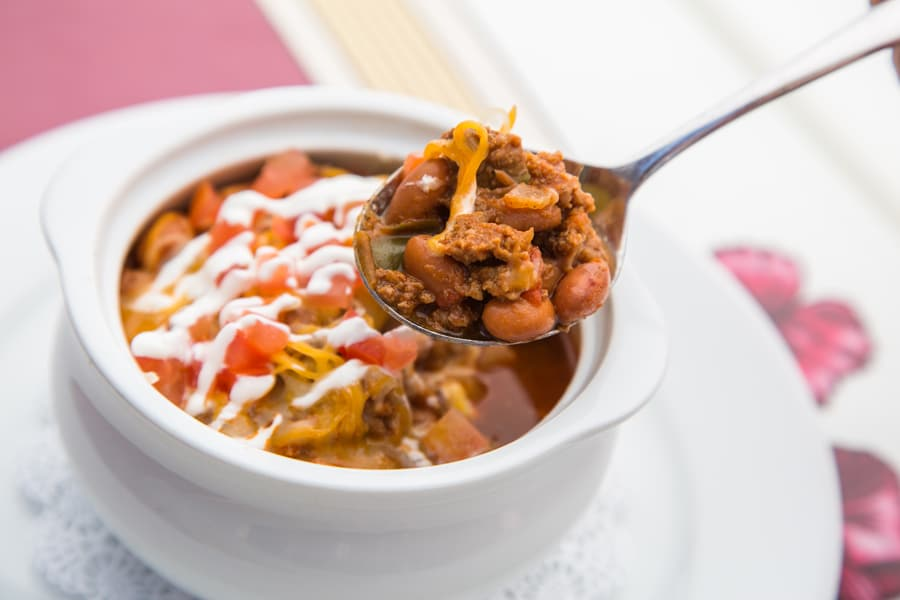 Walt's Chili and Beans from Carnation Café at Disneyland Park - GEEK EATS