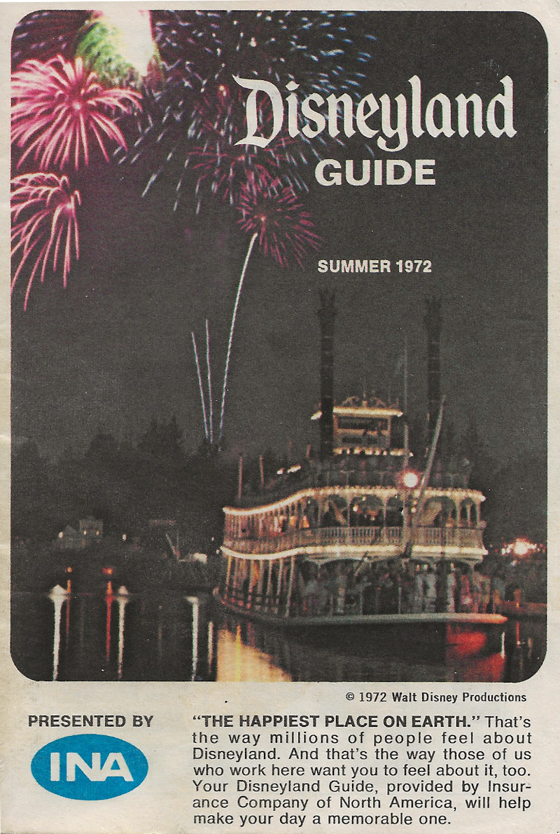 This is the cover of the Disneyland Guide I have kept from my first visit.
