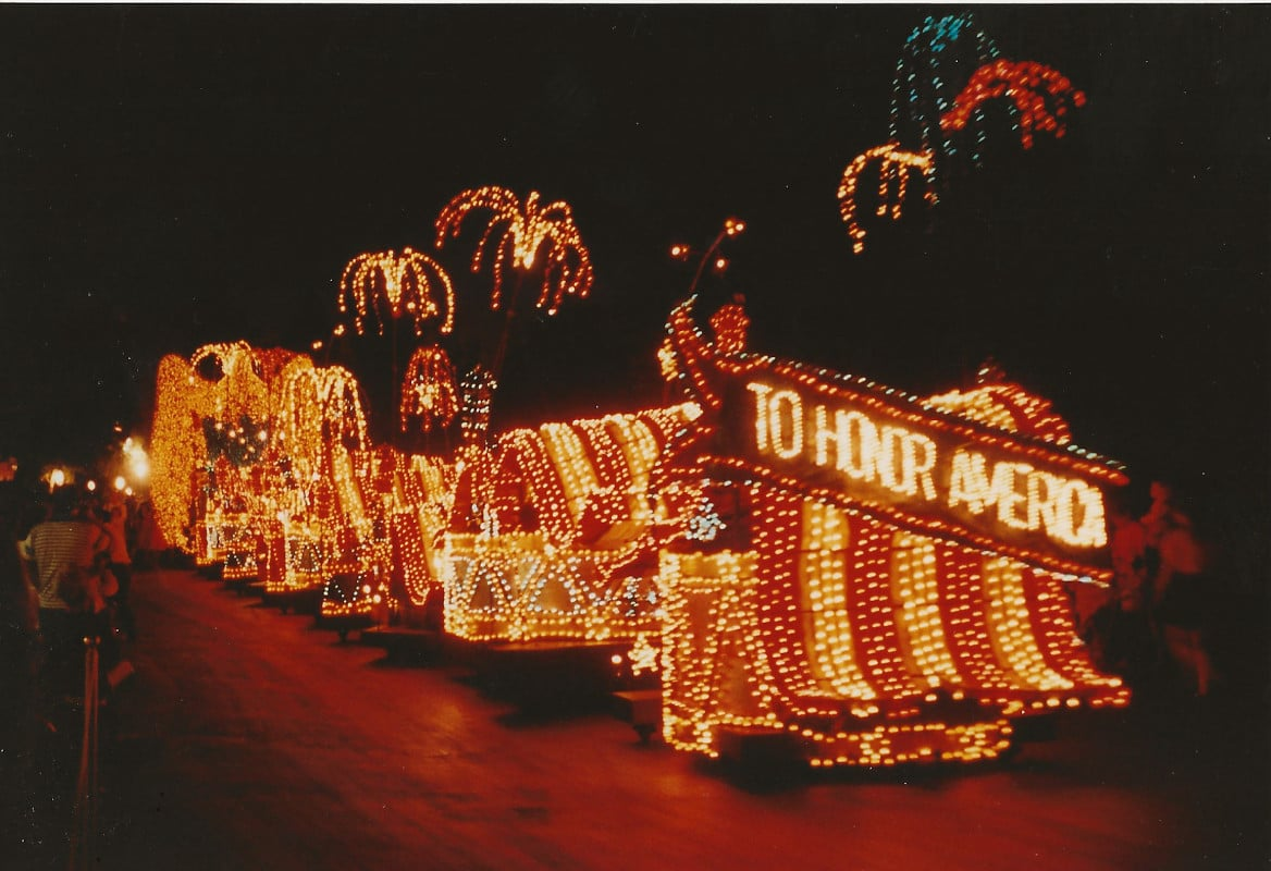 "Surely you know that this float was nicknamed ""the bacon."""