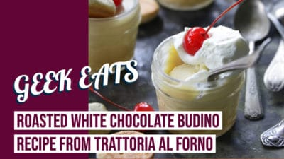 Roasted White Chocolate Budino from Trattoria al Forno at Disney's BoardWalk Inn & Villas – GEEK EATS Disney Recipe