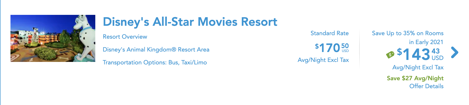 Disney's All-Star Resort 2021