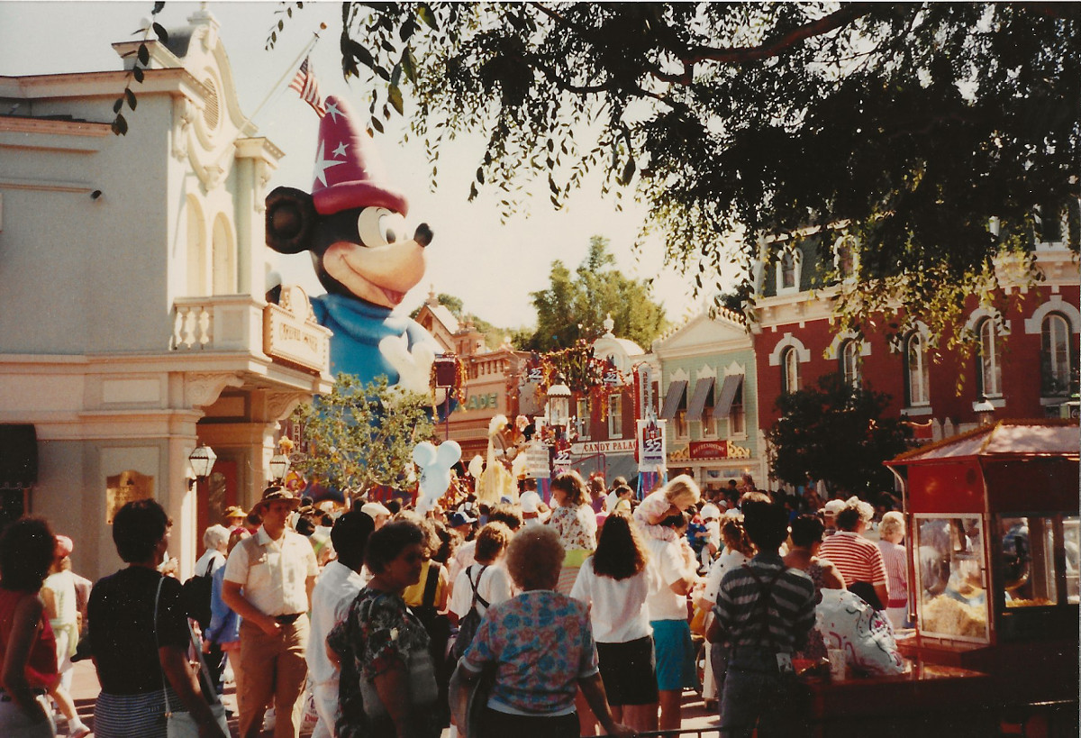 Mickey on Main Street was quite impressive as he dwarfed the buildings lining the street.