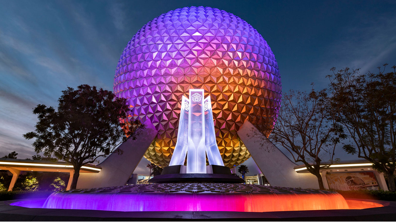 EPCOT Fountain and Spaceship Earth - Featured Image