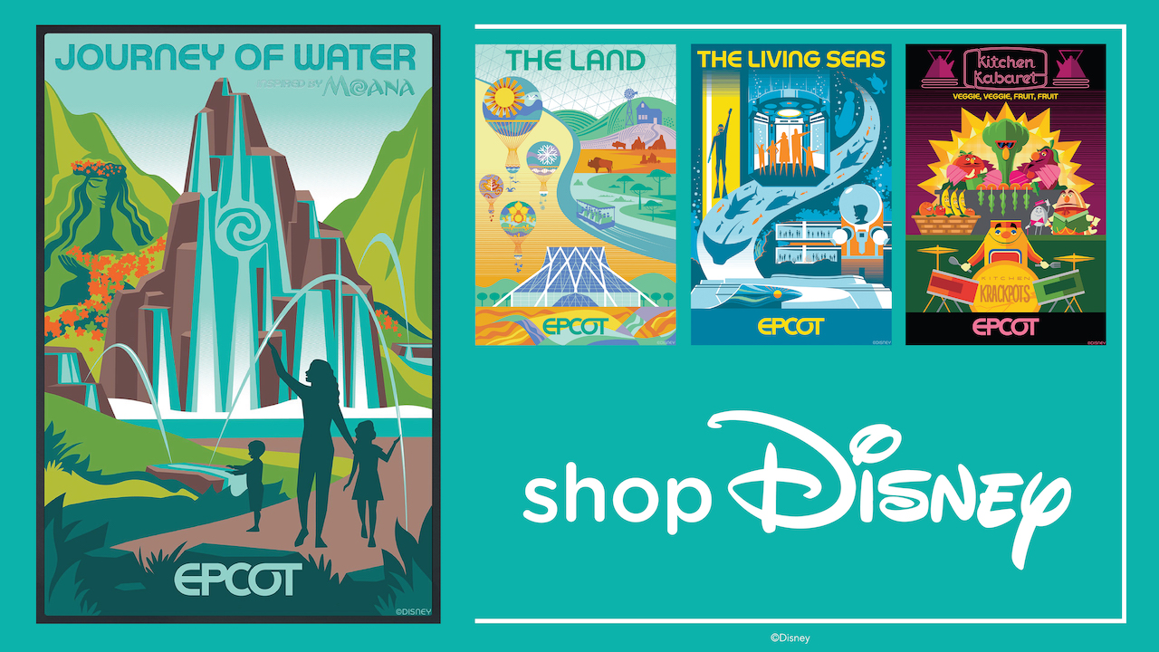 Disney Reveals New Screen Print Posters & Lithographs Celebrating EPCOT!
